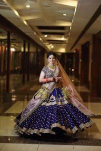 Bridal Lehenga Navy Blue