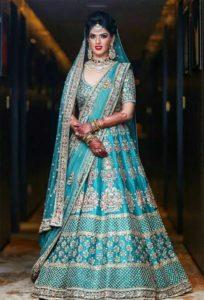 Turquoise Blue Bridal Lehenga