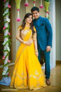 Bridal Lehenga in yellow Color