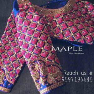 latest cut work blouse designs