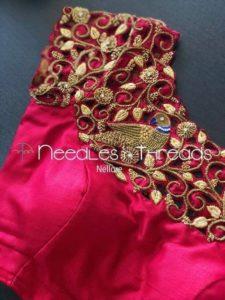 Peacock cut designer blouse