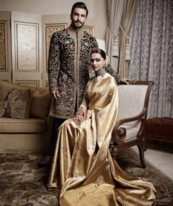 Gold and ivory hue silk saree