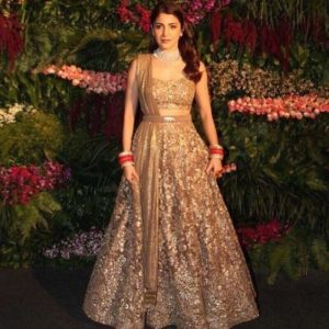 Anushka Sharma reception dress