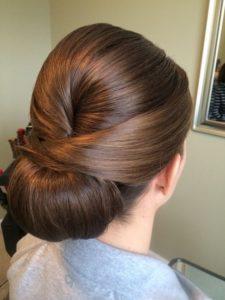 Chignon bun hairdo