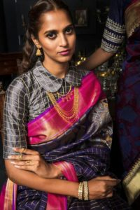 silk saree blouse designs latest
