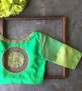 silk saree blouse hand designs