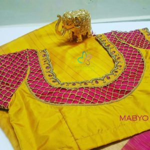 silk saree blouse designs back neck