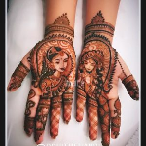 simple mehndi design bridal