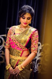 silk sarees blouse designs in back