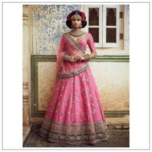 Lotus Pink Tota-Mynah Lehenga