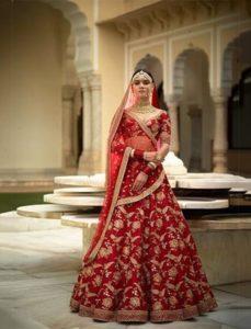 Red Bridal Lehenga Sabyasachi