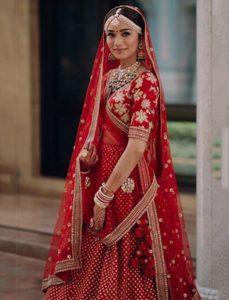 Sabyasachi red bridal Lehenga