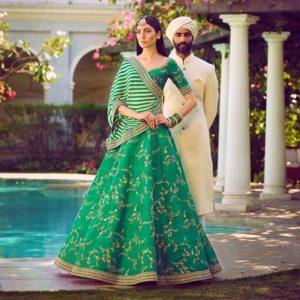 Sabyasachi Green Bridal Lehenga