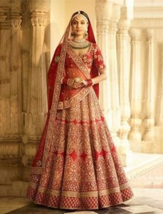 Red Bridal Lehenga by Sabyasachi