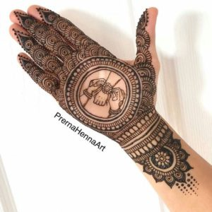 simple mehndi design photo