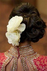 Ringlet bun hairstyle