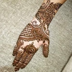 simple mehndi design brida