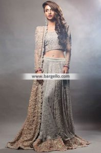 dupatta draping style for lehenga