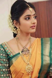 high neck silk saree blouse designs