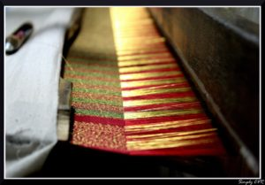 silk saree making