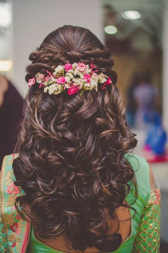 Twisted Curly Up-do for Engagement