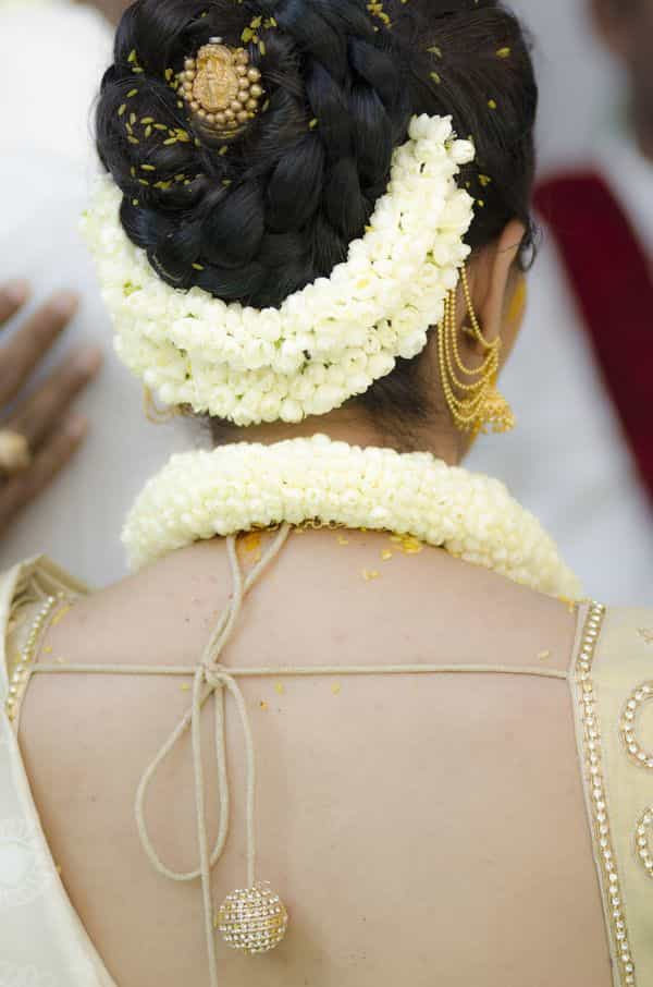 Flower Bun Hairstyle for Engagement